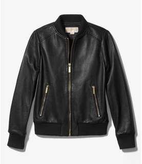 Michael Kors Leather Bomber sz Medium