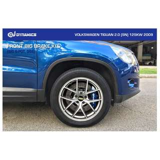 CJ DYNAMICS FRONT BIG BRAKE KIT (BIG 6-POT, 356) ON VOLKSWAGEN TIGUAN 2.0 (5N)