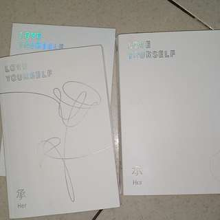 BTS ' LOVE YOURSELF ' HER VERS. WITHOUT STICKER RANDOM PHOTOCARD & FREE ALL BTS MEMBER PHOTO CARD