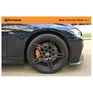 CJ DYNAMICS FRONT BIG BRAKE KIT (BIG 6-POT, 356) ON BMW 316i (F30)