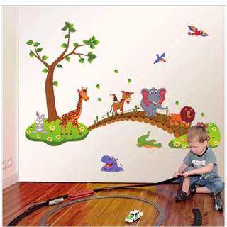135X86cm animals wall decal sticker (in stock)