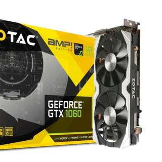 Zotac Gtx 1060 Amp Edition (with backplate)