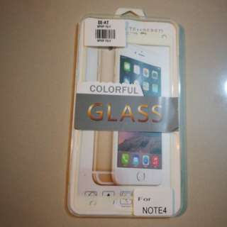 Samsung Note 4 tampered glass screen protector