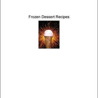Frozen Desserts Recipe