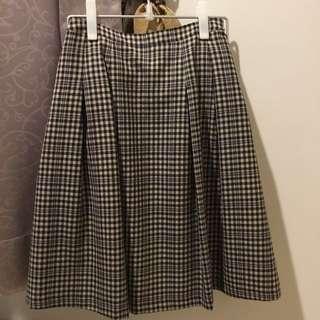 古著風日本製羊毛蘇格蘭裙