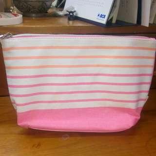 Stripe pouch/kotak pensil/tas makeup