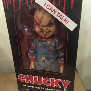 Childs Play CHUCKY i camt talk doll 15' discount from 160