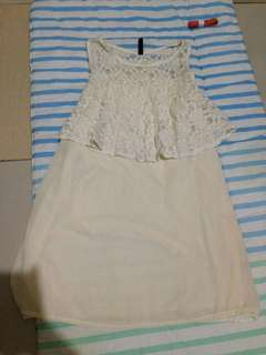 White lacey formal top/dress xs to small