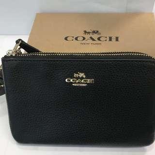 Coach double zip wristlet 小手袋(有單)