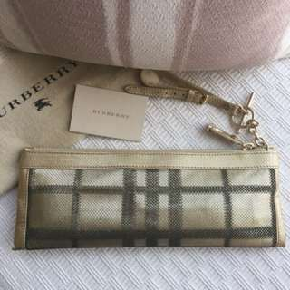 Burberry    leather clutch handbag   @@Made in Italy  ..