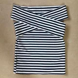 Black/White Stripes Off shoulder