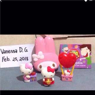 Sanrio collectibles with free happy plus card