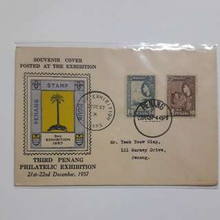 1957 stamp club souvenir cover