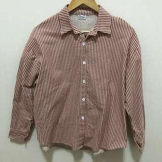 古著 紅白條紋襯衫
