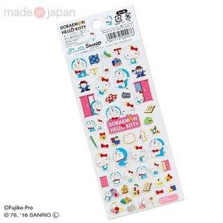 🇯🇵日本製Hello Kitty x多啦A夢貼紙