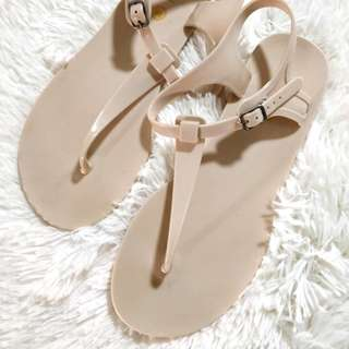 Rubi Nude Jelly Sandals