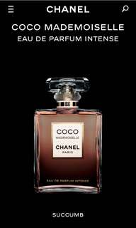 Chanel coco mademoiselle intense sample 噴妝香水版