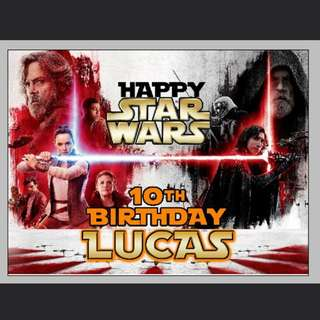 The Last Jedi customized birthday backdrop,  poster, banner