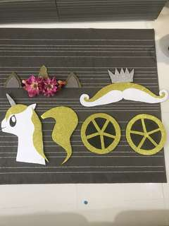 Leftover Party Deco - Unicorn and Carriage