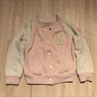 正品 next 粉色棒球外套