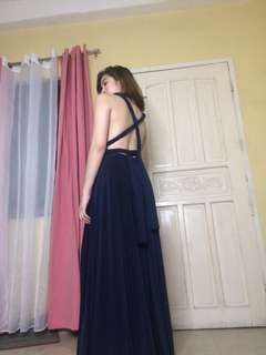INFINITY DRESS in Dark Blue