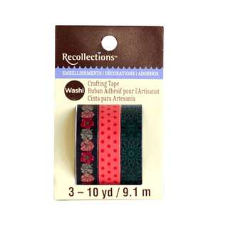 Dark Floral Print Washi Tape by Recollections