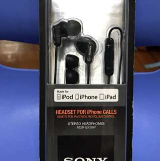 Sony high quality headset MDR-Ex38iP