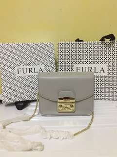 Readystock✨Furla Metropolis Grey colour