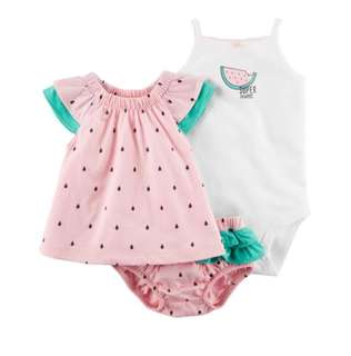*9M* Brand New Carter's 3-Piece Watermelon and Diaper Cover Set For Baby Girl