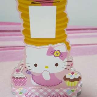 Hello Kitty Happy Birthday Card Board Decor