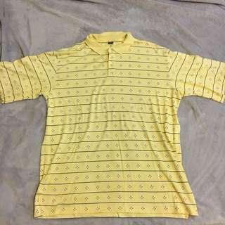 古著鵝黃色polo衫