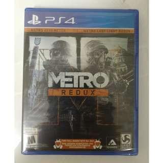 全新已拆封 戰慄深隧 重製版 Metro Redux PS4  2033 Last Light