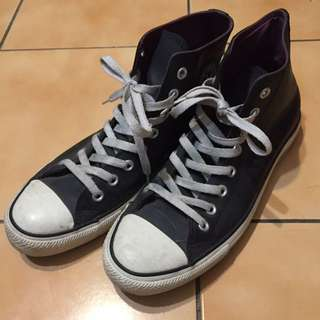 🚚 Converse All Star Leather 皮質 高筒平底鞋