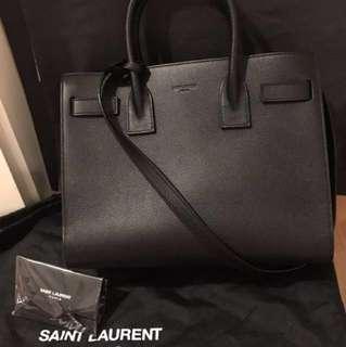 YSL Saint Laurent Baby Sac De Jour 風琴袋 9成新 連塵袋
