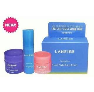 Laneige good night sleeping care kit 3 item
