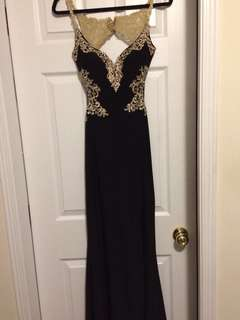 Black and Gold Dress Gown
