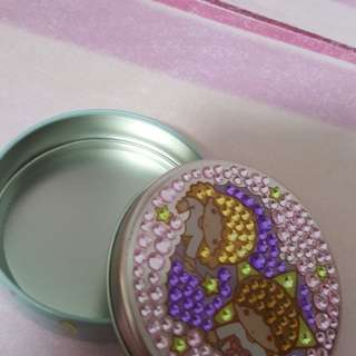 Little Twin Star Glam.Round Tin Box