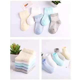 春夏透氣棉質網眼寶寶襪/兒童襪/嬰兒襪