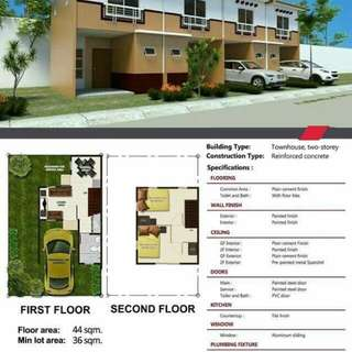 4k monthly 2storey house thru pag ibig