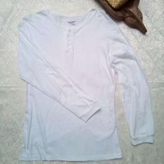 White long sleeve shirt barong undergarment