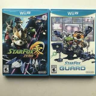 Star fox Zero/ Star Fox Guard Wii u