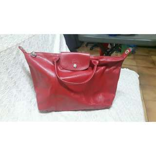 Longchamp Le Cuir Medium bag with strap. ORIGINAL