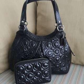 Auth Coach Mini Handbag and wallet set michael kors kate spade