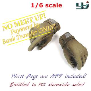1:6 scale BBi Gloved Hands (Tan) x1 pair. *Entitled to 15% storewide sales!
