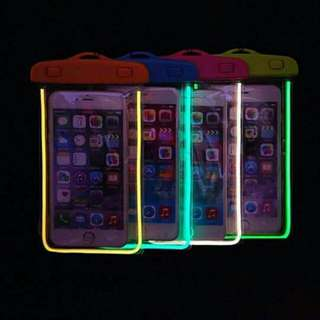 Glow in the dark water proof pouch