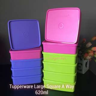 Tupperware Large Square a way 620ml