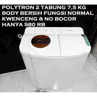 Polytron 2 Tabung Manual 7,5KG Terawat Kwenceng Bagus KATAPANG SOREANG
