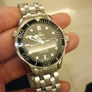 Omega海馬機械錶!300米