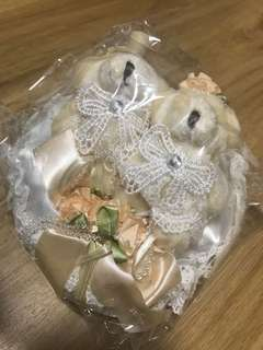 Teddy Bear Wedding Ring Pillow