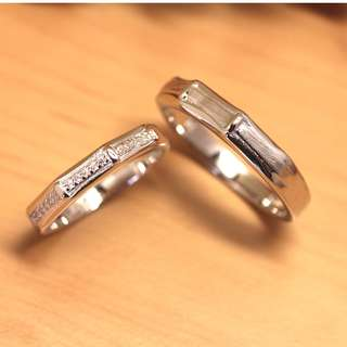 [READY STOCK] WB Bamboo, Wedding rings, Couple rings, Anniversary ring, Silver, WB006